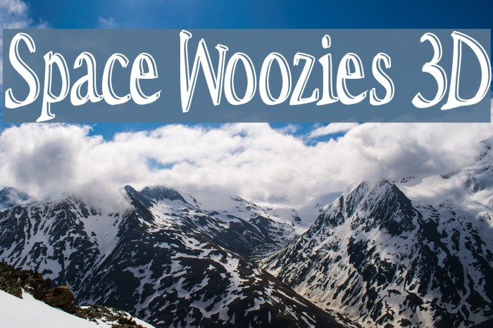 Space Woozies 3D Fonte examples