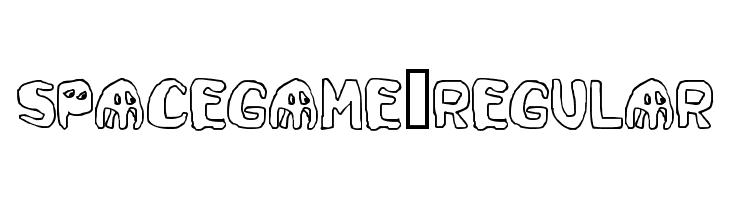 SpaceGame-Regular  Free Fonts Download