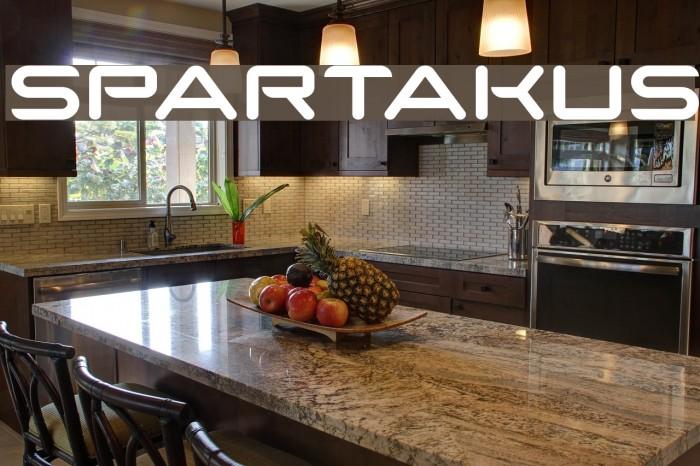 SparTakus फ़ॉन्ट examples