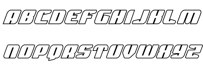 Spartaco Bold Outline Font LOWERCASE