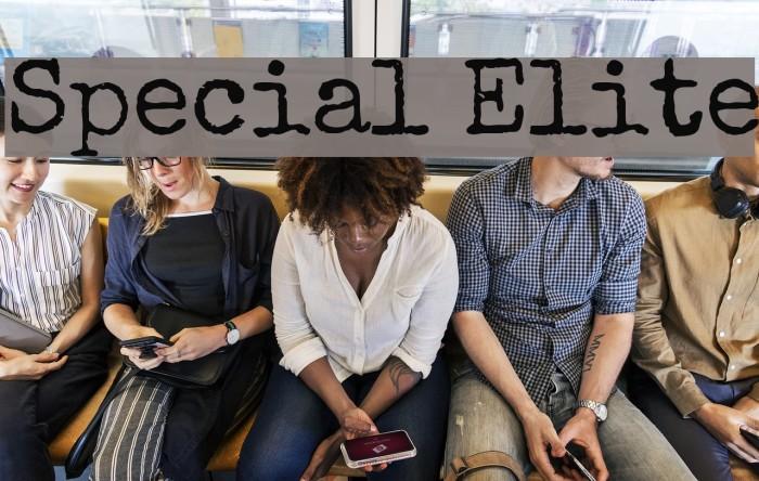 Special Elite 字体 examples