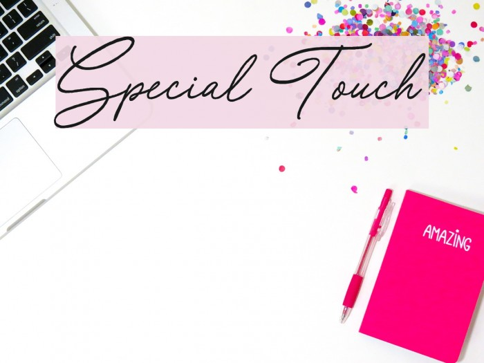 Special Touch Schriftart examples