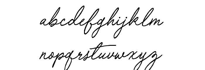 Special Touch Schriftart Kleinbuchstaben