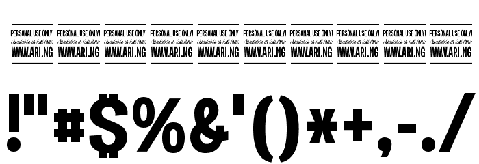 Specify PERSONAL Condensed Bold Font - free fonts download