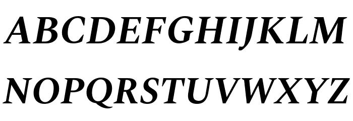 Spectral Bold Italic Font Litere mari