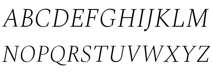 Spectral ExtraLight Italic Font UPPERCASE