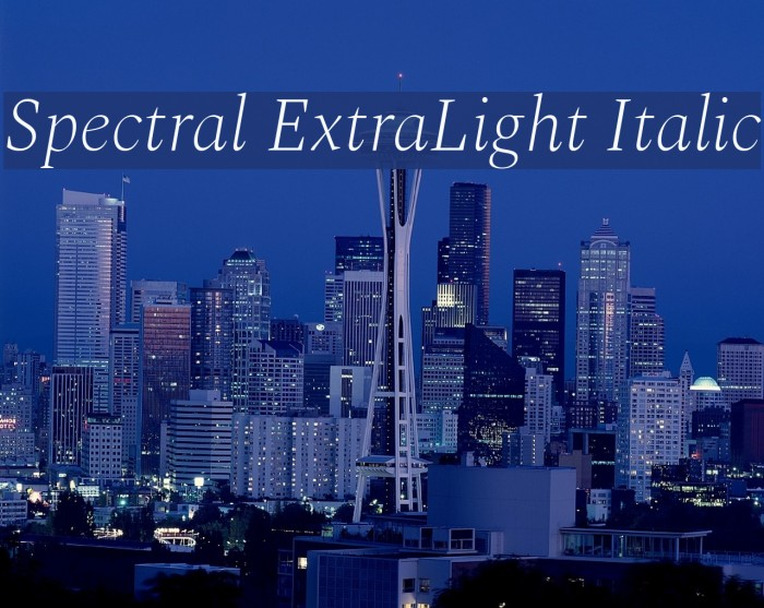 Spectral ExtraLight Italic Font examples