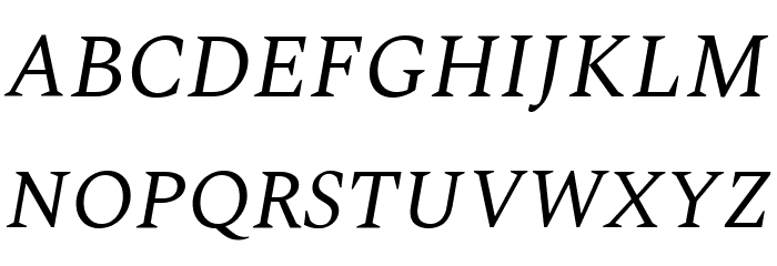 Spectral Italic Fonte MAIÚSCULAS