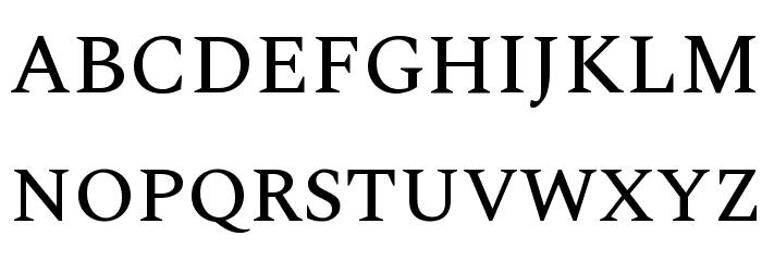 Spectral Medium Font UPPERCASE