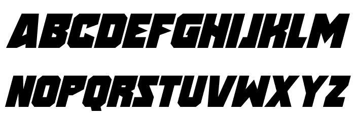 Speed Freaks Italic Font LOWERCASE