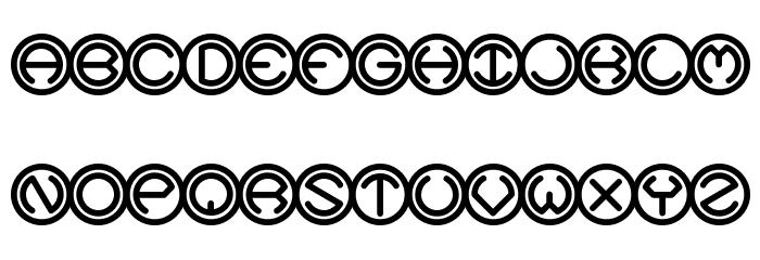 Spheroids BRK Font UPPERCASE