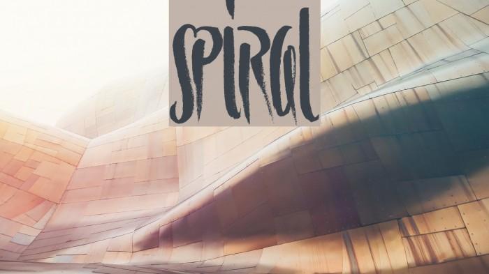 Spiral Schriftart examples