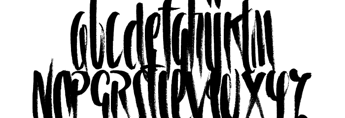 Spiral Schriftart Kleinbuchstaben