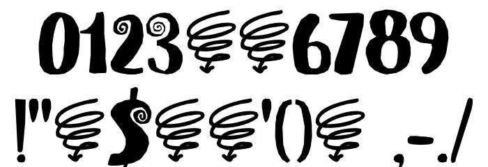 Spiraling Down DEMO Regular Font OTHER CHARS