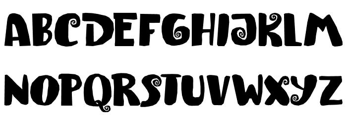 Spiraling Down DEMO Regular لخطوط تنزيل الأحرف الكبيرة
