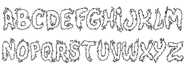 Splash Schriftart Kleinbuchstaben