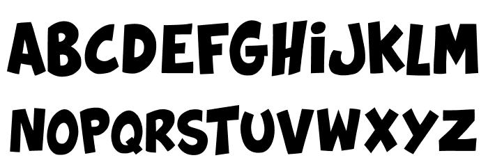 Splatch Schriftart Kleinbuchstaben