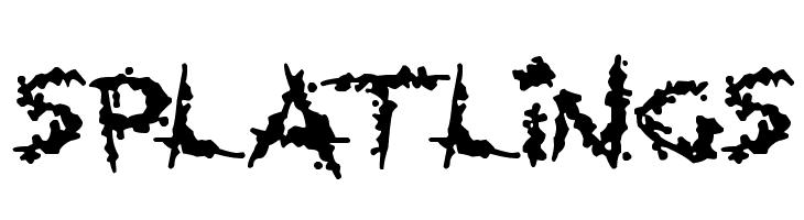 Splatlings  Free Fonts Download