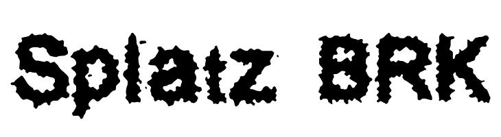 Splatz BRK  フリーフォントのダウンロード