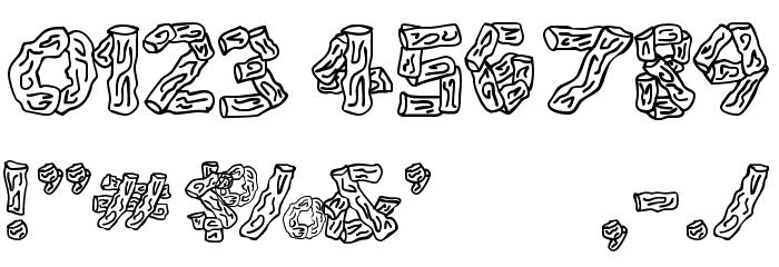 Splinters JL Шрифта ДРУГИЕ символов
