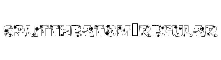 SplittheAtom-Regular  フリーフォントのダウンロード