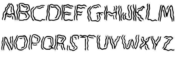 Spook Font UPPERCASE