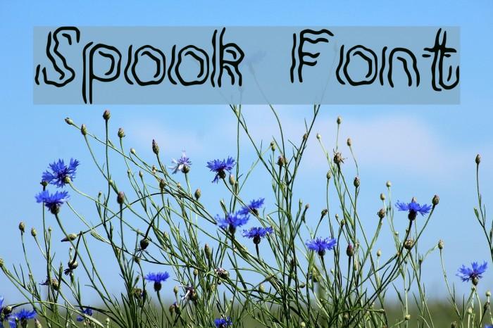 Spook Font examples