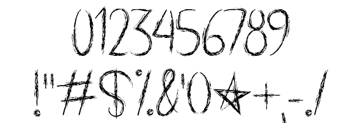 Spooky Halloween Font OTHER CHARS