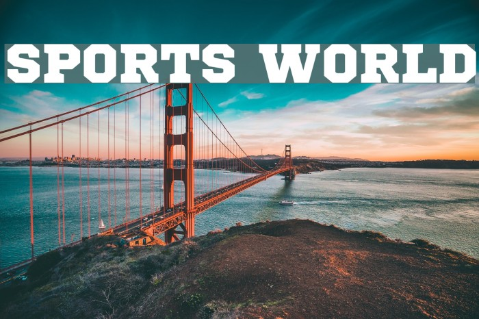Sports World Font examples