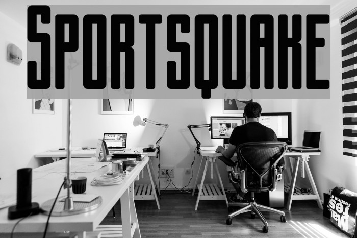Sportsquake Font examples