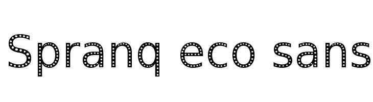 Spranq eco sans  नि: शुल्क फ़ॉन्ट्स डाउनलोड