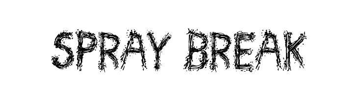 Spray Break  Free Fonts Download