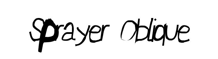 Sprayer Oblique  Descarca Fonturi Gratis