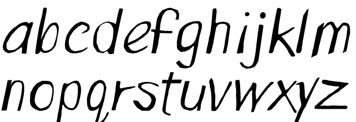 Spring Up Font LOWERCASE