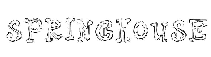 Springhouse  Скачать бесплатные шрифты