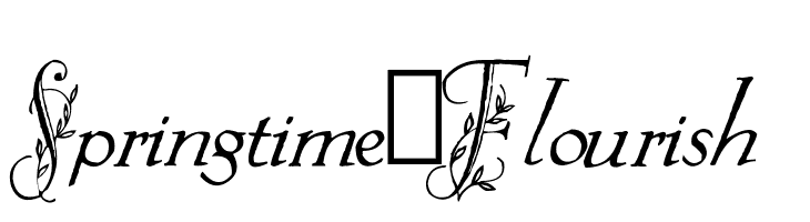 Springtime_Flourish  Free Fonts Download