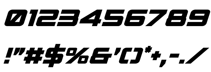Spy Agency Bold Italic Font OTHER CHARS