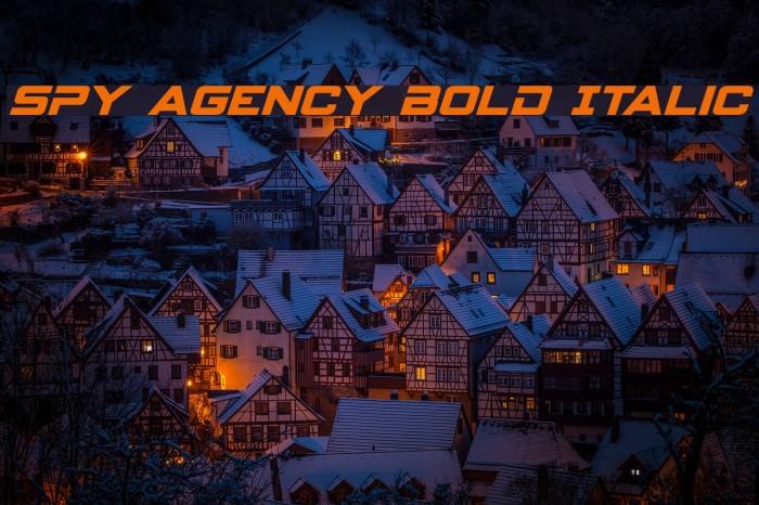 Spy Agency Bold Italic Polices examples