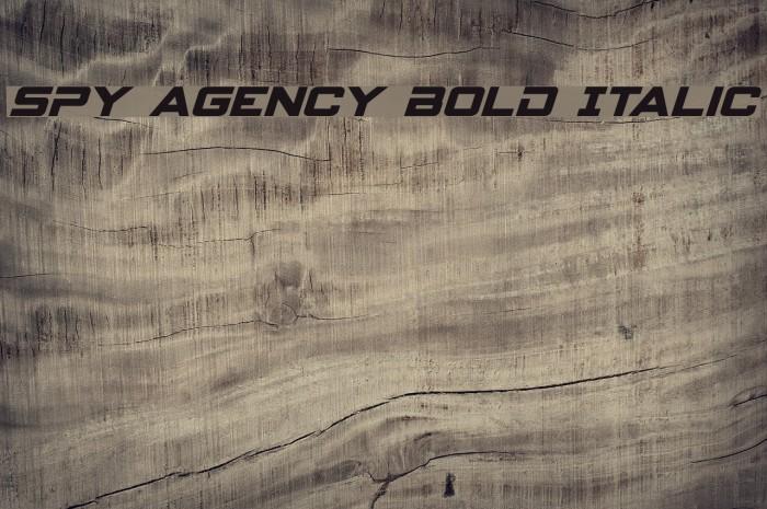 Spy Agency Bold Italic لخطوط تنزيل examples