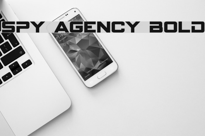 Spy Agency Bold Font examples