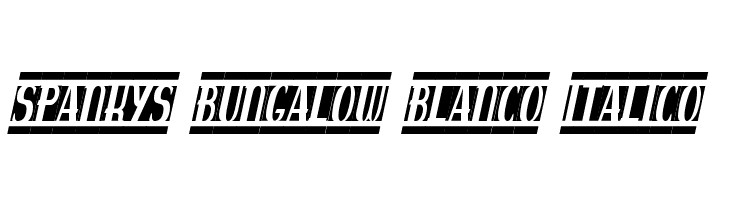 spankys bungalow blanco italico  Free Fonts Download