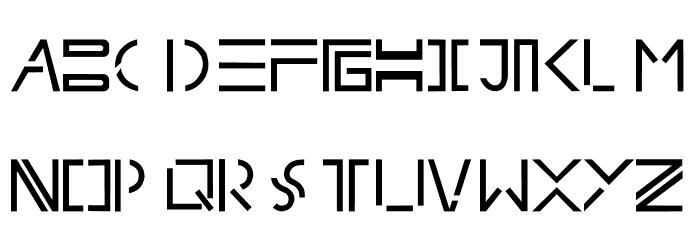 splitfont Font UPPERCASE