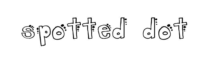 spotted dot  font caratteri gratis