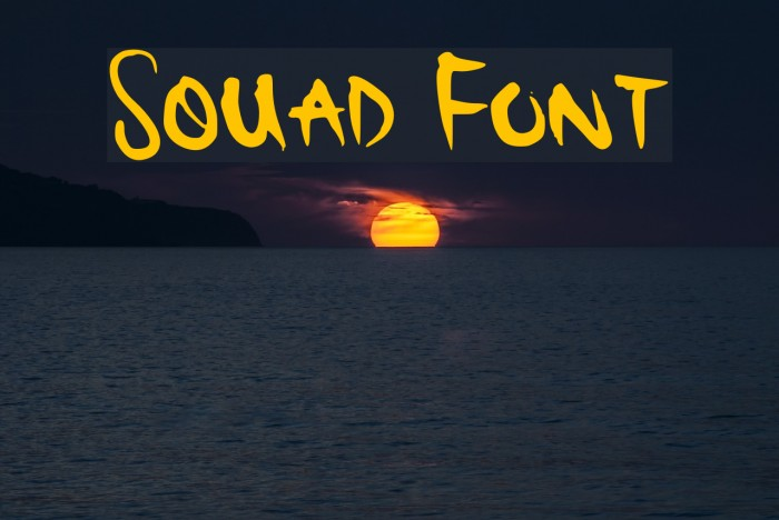 Squad Font Fonte examples