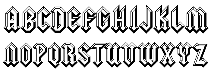 squealer embossed font