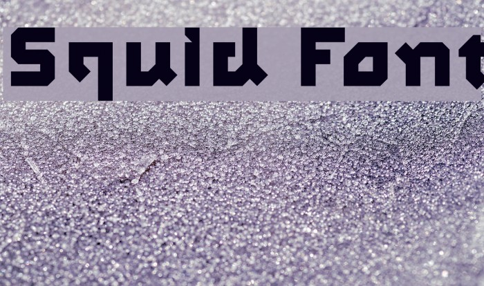 Squid Font examples