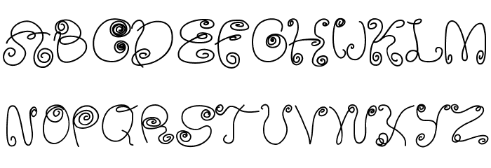 SquigglyLittleWiggly Font UPPERCASE