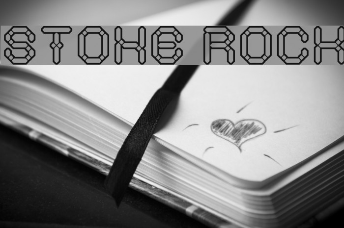 STONE ROCK Font examples