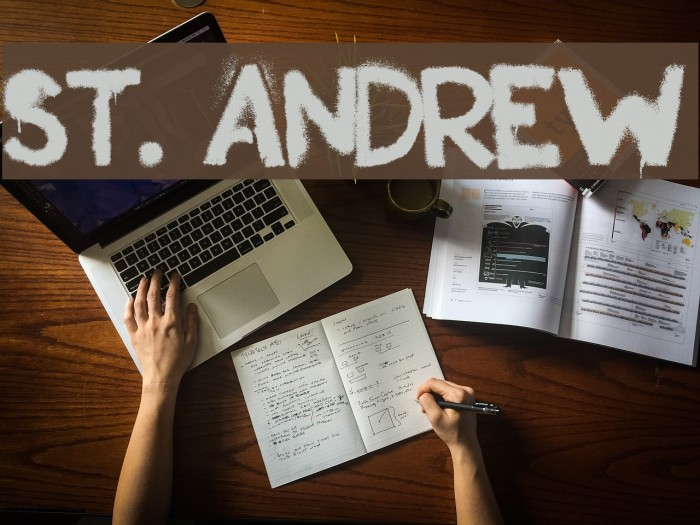 St. Andrew Font examples