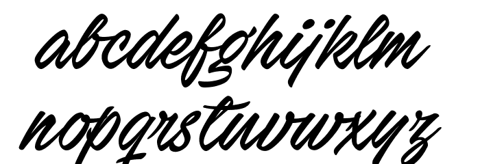Stackyard PERSONAL USE Font LOWERCASE